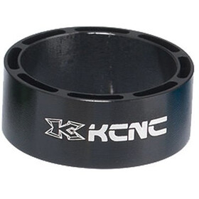 "KCNC Hollow Design Headset Spacer 1 1/8"" 3/8/20mm, negro"